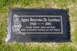 Agnes J. <i>Broersma</i> De Leenheer