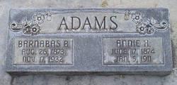 Annie Harriet <i>Hall</i> Adams