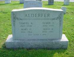 Mary Gulick <i>Allebach</i> Alderfer