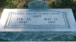 Claudia Ethlyne <i>Tolbert Oquin</i> Love