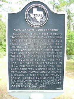 McFarland-Wilson Cemetery