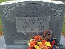 Martha Jane Maxwell