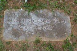 Anna <i>Henderson</i> Adams