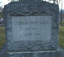 Zebulon Baird Vance