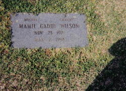 Mamie Edna <i>Gaddy</i> Wilson