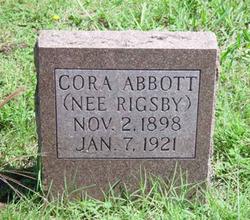 Cora <i>Rigsby</i> Abbott
