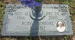 Ruby <i>Skidmore</i> Boone