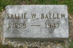 Sarah Cordelia Sallie <i>Wright</i> Ballew