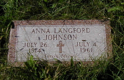 Anna <i>Langford</i> Johnson