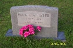 Frances Ann Fannie <i>Cross</i> Plyler