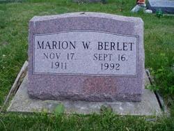 Marion W. Berlet