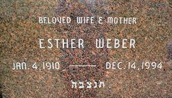 Esther <i>Ruzin</i> Weber