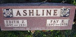Edith Zelma <i>Adams</i> Ashline