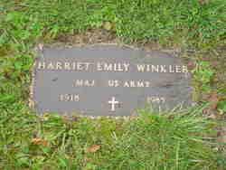 Maj Harriet Emily Winkler