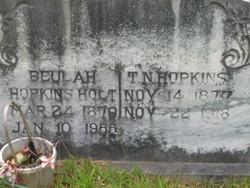 Beulah <i>Hopkins</i> Holt