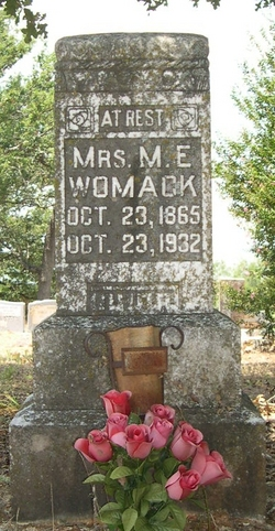 Mattie Elizabeth <i>Randolph</i> Womack