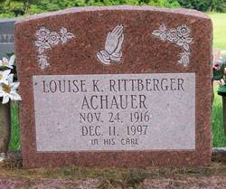 Louise Kathryn <i>Rittberger</i> Achauer