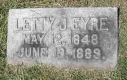 Letty Jane <i>Duryea</i> Eyre
