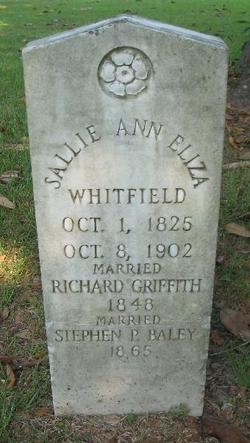 Sallie Ann Eliza Whitfield <i>Griffith</i> Baley