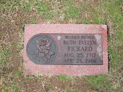 Ruth Evelyn <i>Jones</i> Rickard