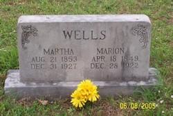 Martha Jane <i>Keister</i> Wells