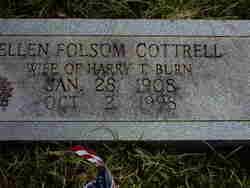 Ellen Folsum <i>Cottrell</i> Burn