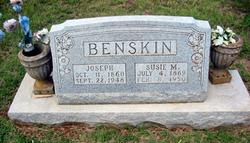 Susie M <i>Byars</i> Benskin