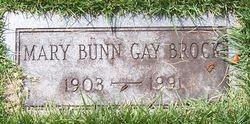 Mary Bunn <i>Gay</i> Brock