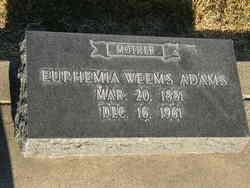 Euphemia <i>Weems</i> Adams