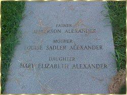 Louise <i>Sadler</i> Alexander