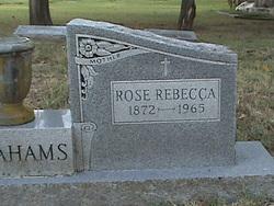 Rose Rebecca <i>Elias</i> Abrahams