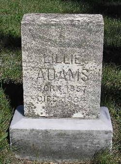 Lillie Belle <i>Rice</i> Adams