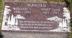 Mary Jane <i>Willey</i> Hansen