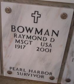 Raymond DeArmond Bowman