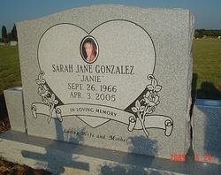 Sarah Jane Janie <i>Patterson</i> Gonzalez
