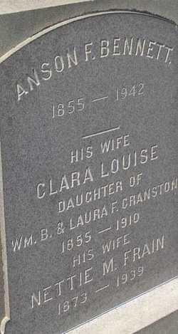 Clara Louise <i>Cranston</i> Bennett