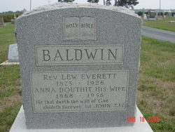 Anna L <i>Douthit</i> Baldwin