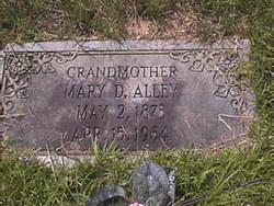 Mary D. <i>Teer</i> Alley