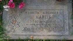 Loretta <i>Alexander</i> Martin