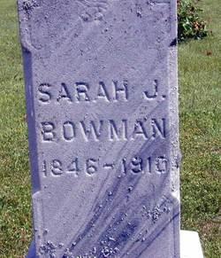 Sarah Jane <i>Shanabarger</i> Bowman