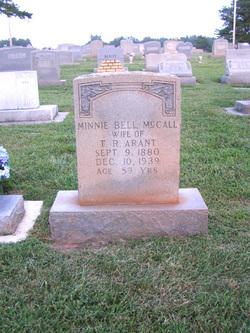 Minnie Bell <i>McCall</i> Arant