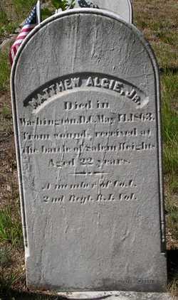 Pvt Matthew Algie, Jr