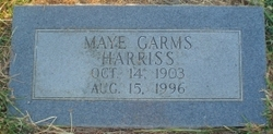 Maye Beryl <i>Garms</i> Harriss