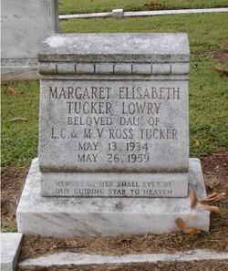 Margaret Elisabeth <i>Tucker</i> Lowry