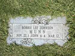Bobbie Lee <i>Munn</i> Johnson
