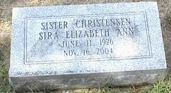 Sira Elizabeth Ann Liz <i>Christensen</i> Servine