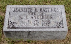 Jeanette B <i>Hastings</i> Anderson