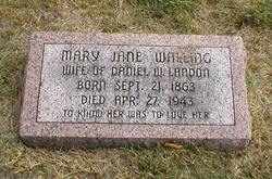Mary Jane <i>Walling</i> Landon