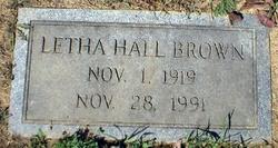 Letha Hall Brown
