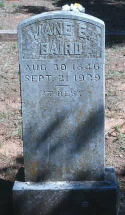 Jane E <i>Lewis</i> Baird